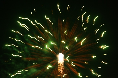 Fireworks (Skyrocket Explosion Types) at Southvale, New Year 2015, no.  - 07
