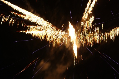 Fireworks (Skyrocket Explosion Types) at Southvale, New Year 2015, no.  - 08