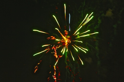 Fireworks (Skyrocket Explosion Types) at Ayala Southvale on New Year 2015, no. 11