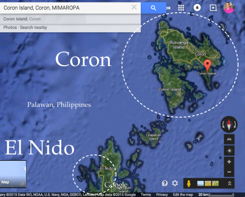 El Nido & Coron, Map of