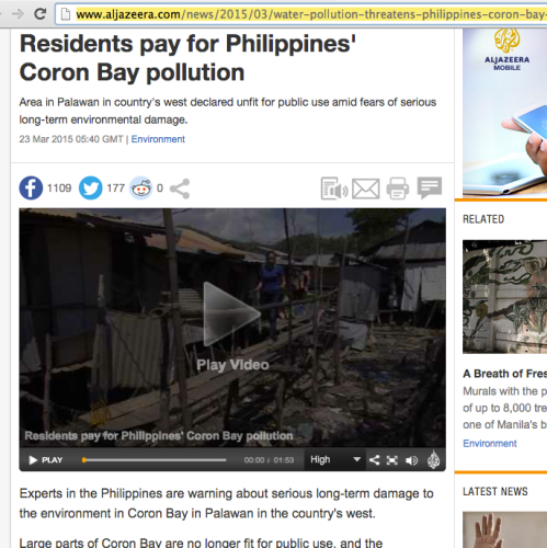 "retirednoway, ""Distressing news about Coron Bay (aljazeera)"""