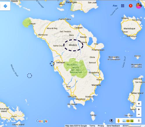 Sablayan in Mindoro island