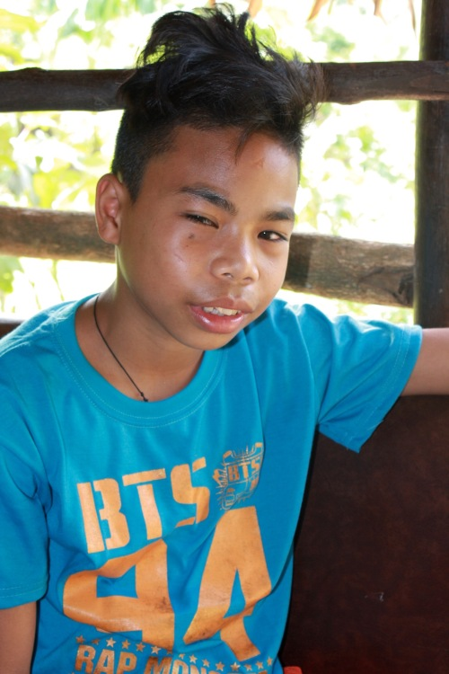 Seems to be suffering from an eye infection was this 16-year old boy who lives near Ulan-Ulan Falls, Almeria, Biliran Island - 29.jpg